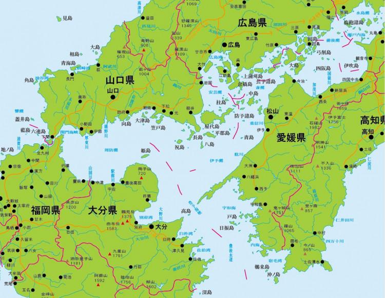 佐田岬半島の位置