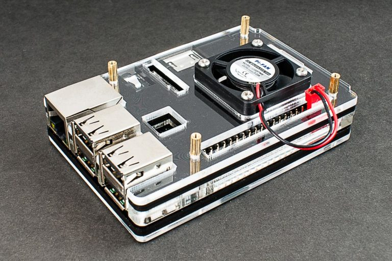 raspberry pi 3 zebra case with fan