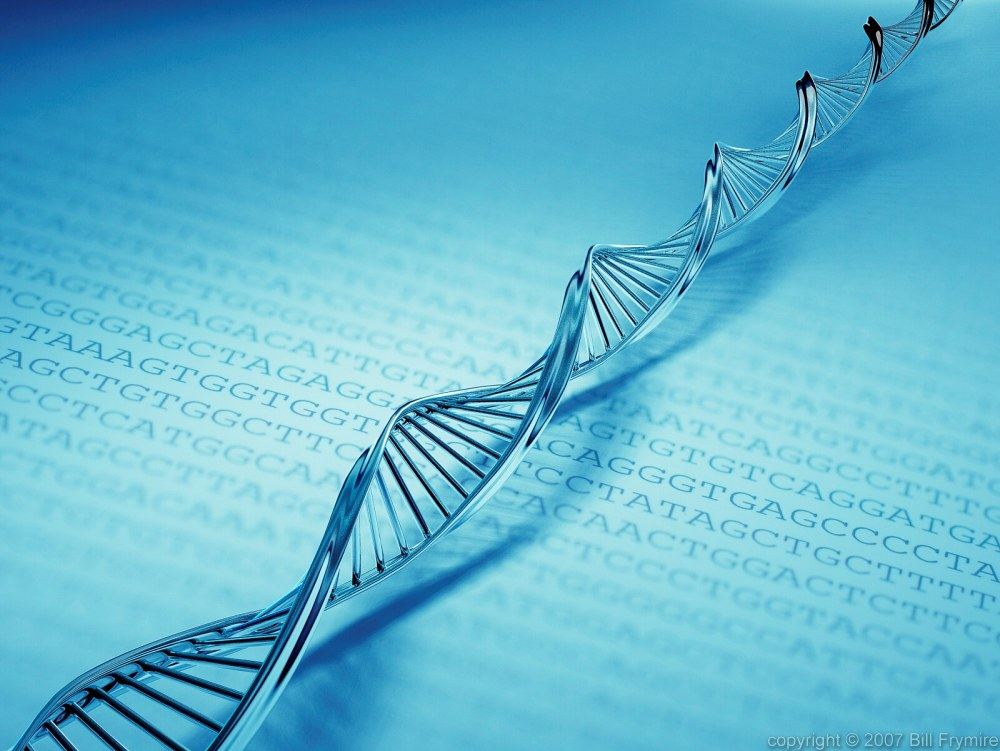 DNA strand with code