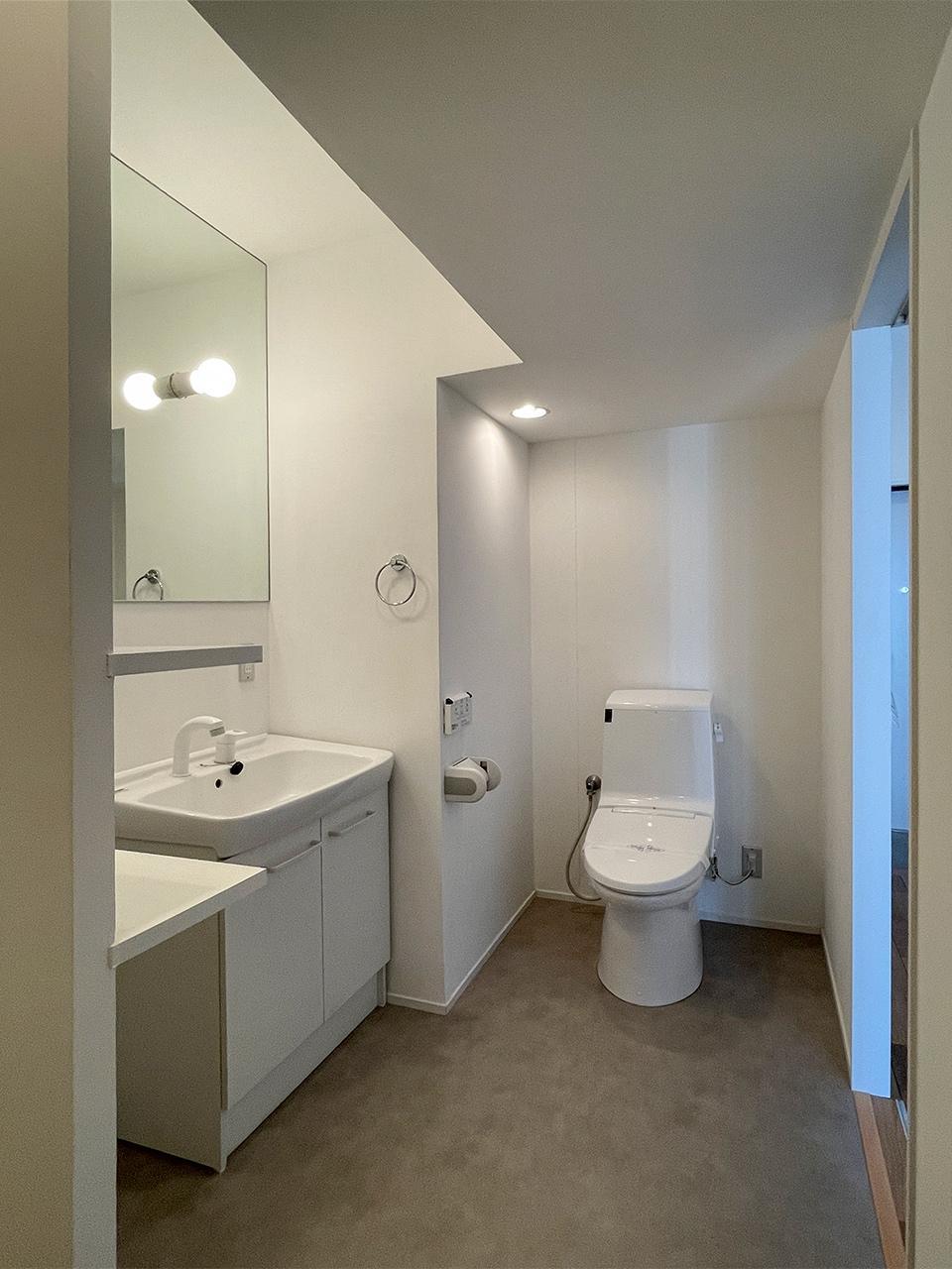 トイレは脱衣所と一緒のタイプ