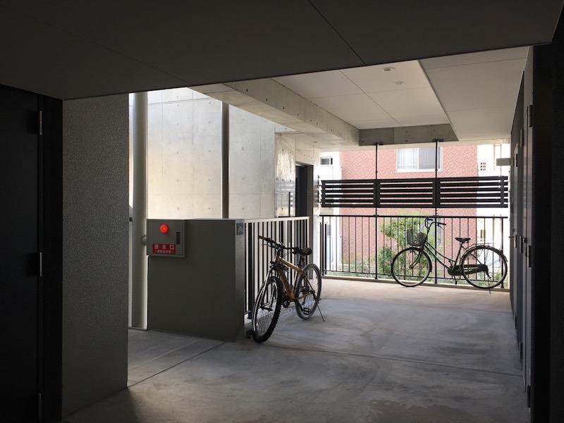 自転車の駐輪は共用部