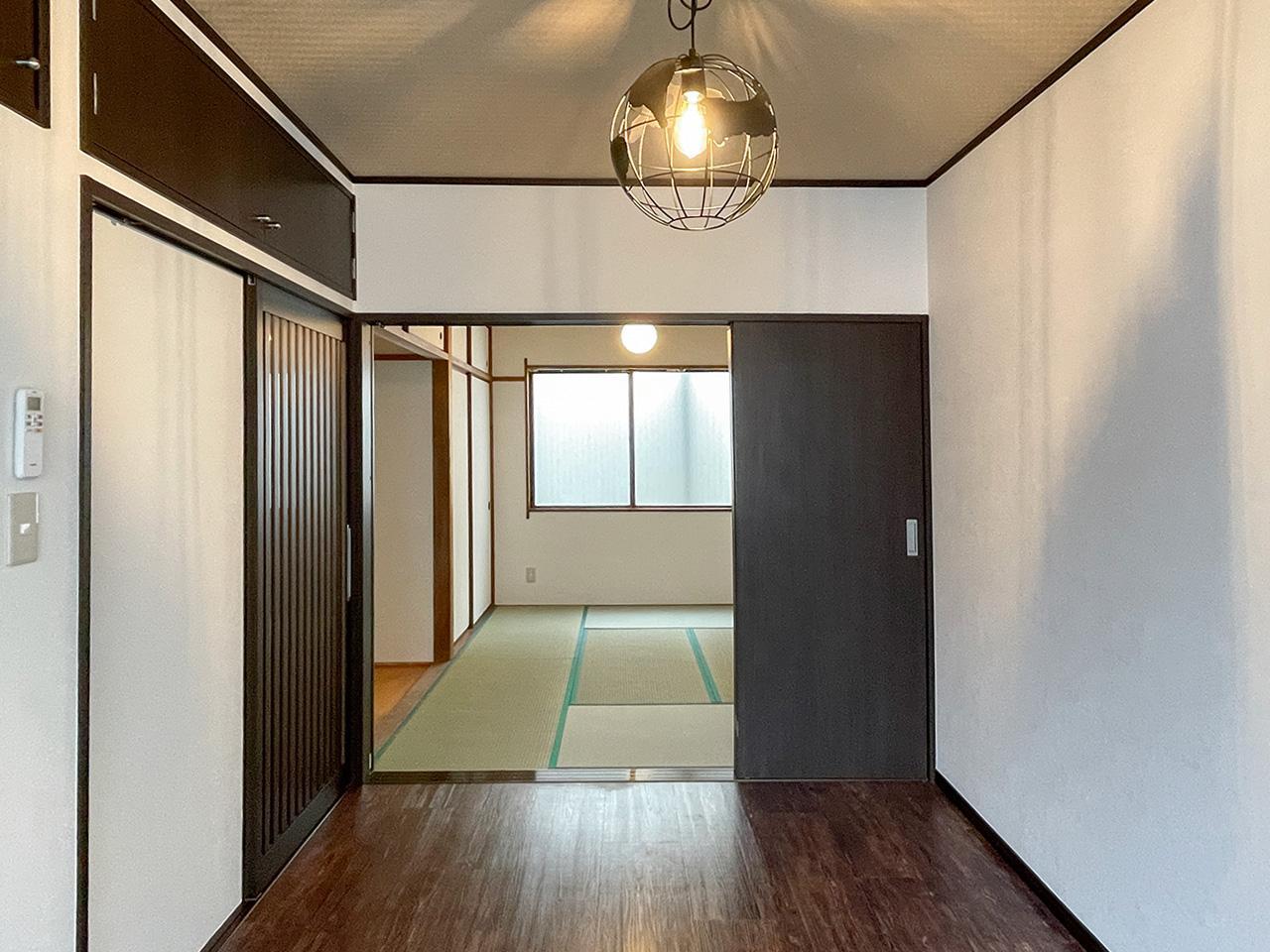 洋室と和室の縦長