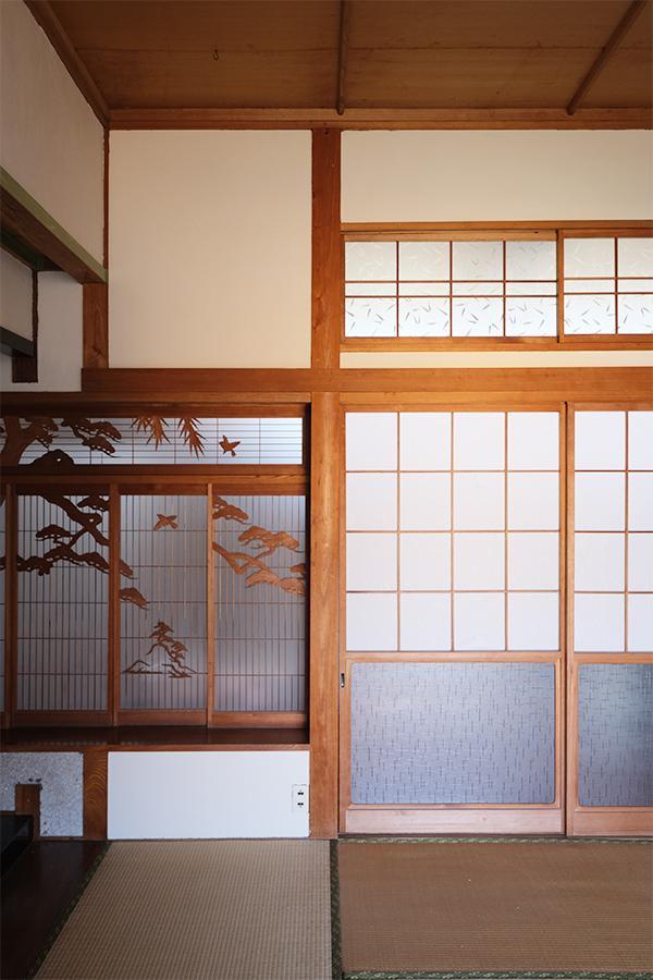和室に残る素敵な建具たち。