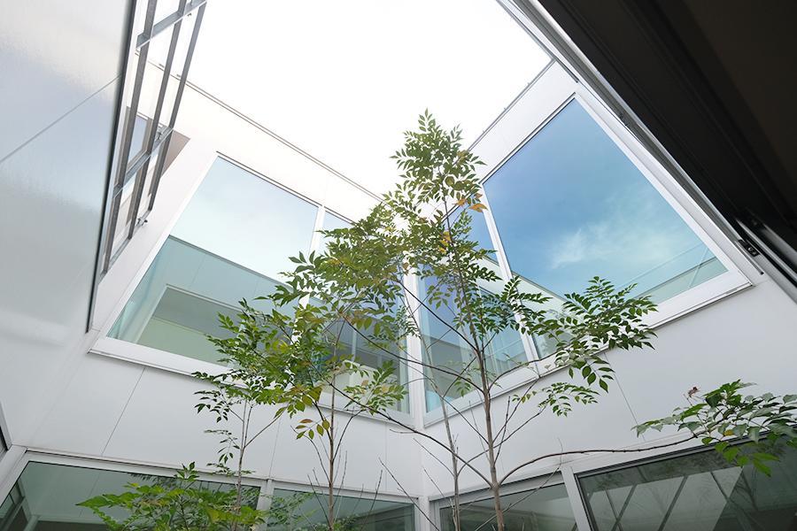 ガラスに映り込む空が、美しかったり。