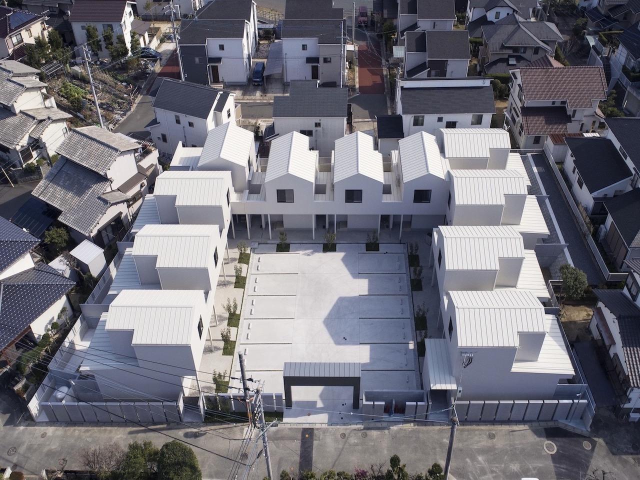 11住戸からなるコミュニティ。