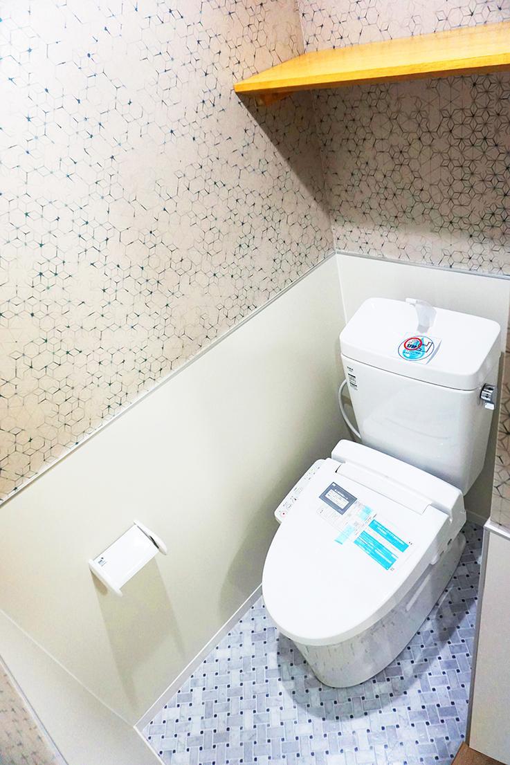 トイレ周り。全て新品です。