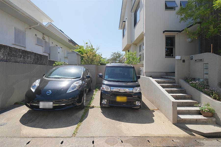 2台余裕な駐車スペース。