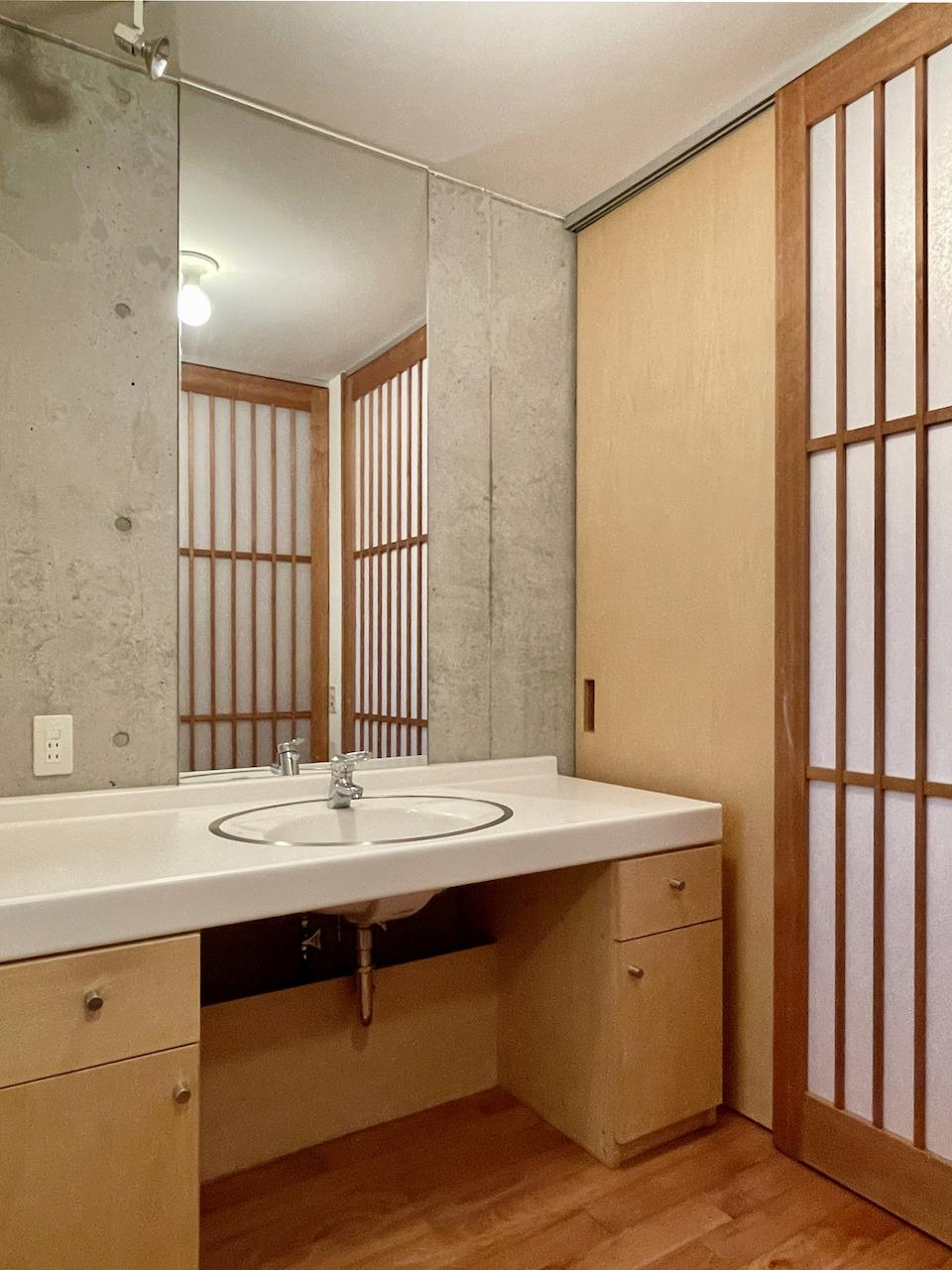 洗面所も旅館みたい。