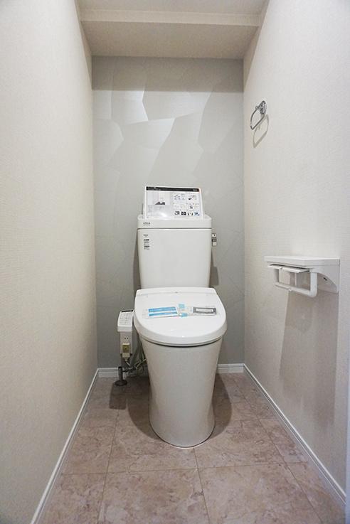 スッキリしたトイレ。