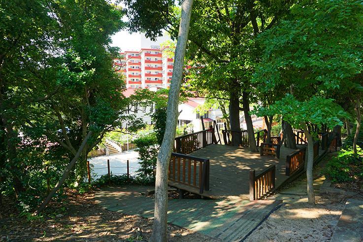 養巴幼稚園の園庭。中央区でこの環境、恵まれていますね。
