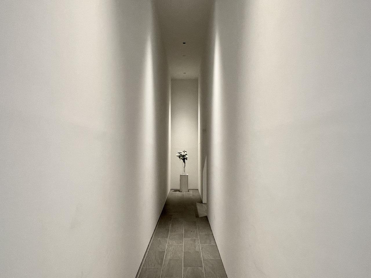 エントランス廊下。アトリエの入り口みたい。