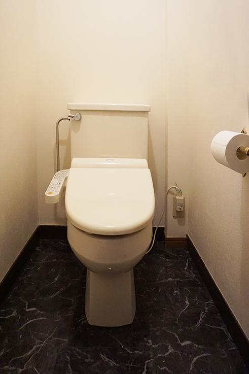 お掃除しやすそうなトイレ。