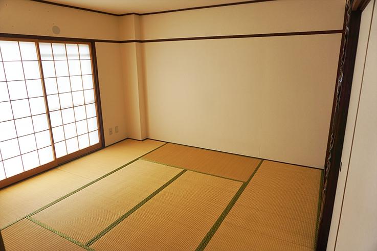 8畳の和室。どの部屋もゆとりがあります。