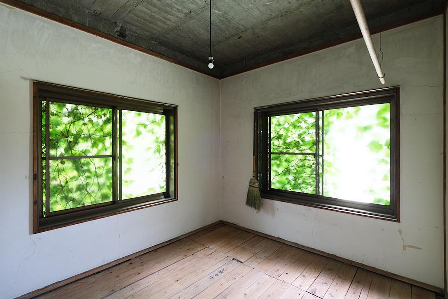 2階の個室。グリーンカーテンをくぐれば屋上です。