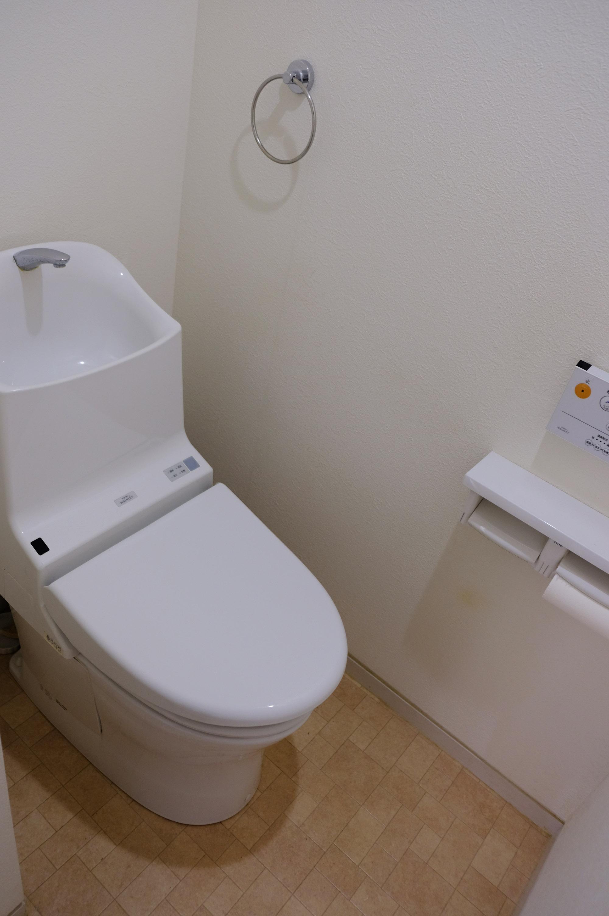 ・トイレもきれいです