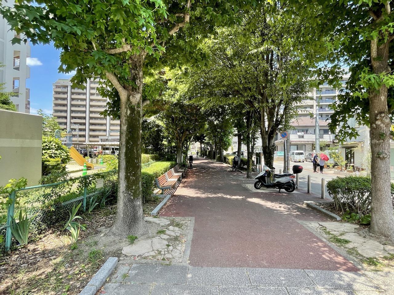 駅までのルートは梅光園緑道がおすすめ。