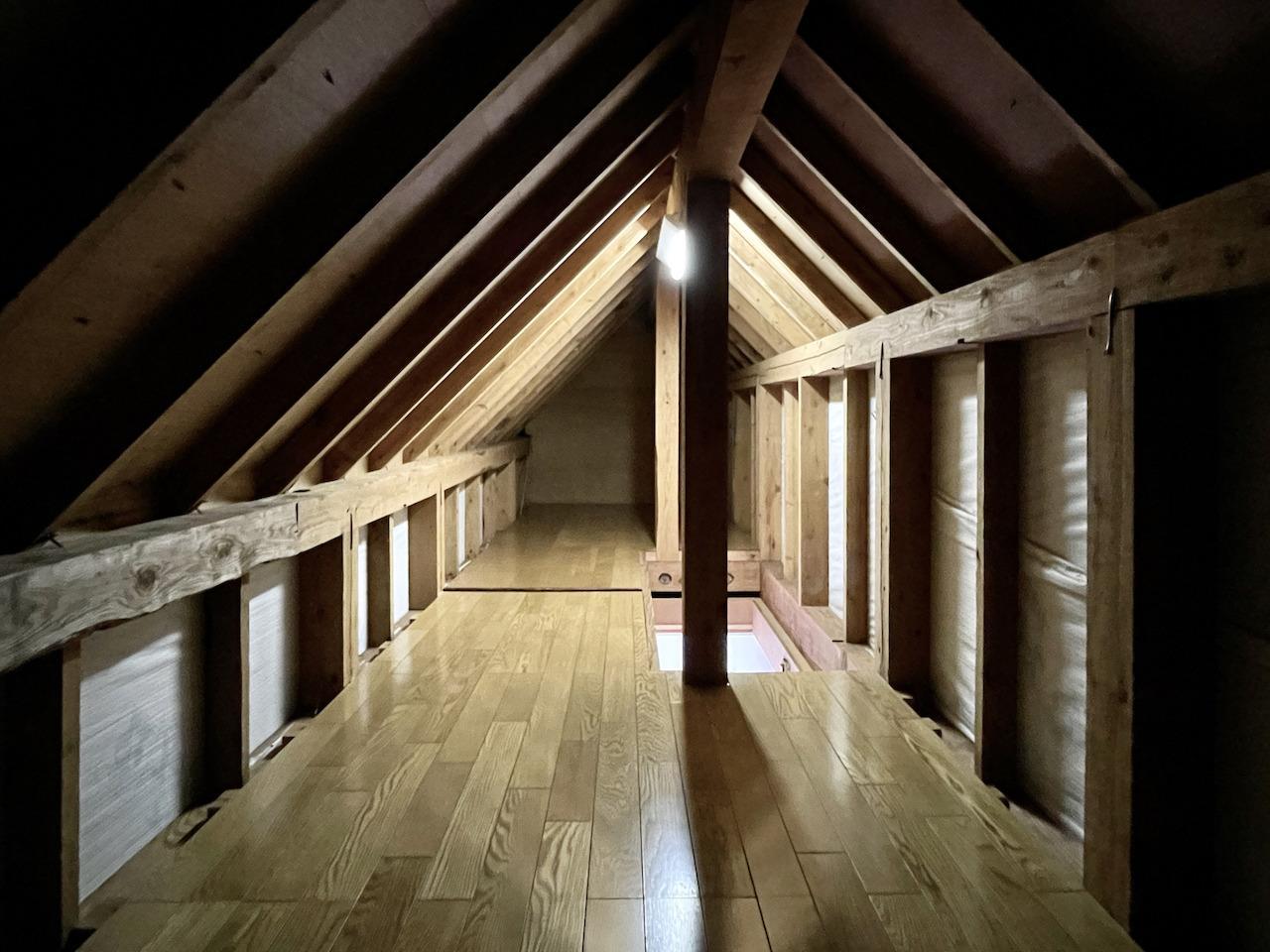 1番広い屋根裏。
