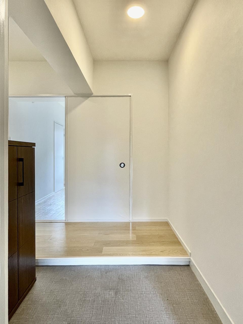 ゆとりのある玄関。