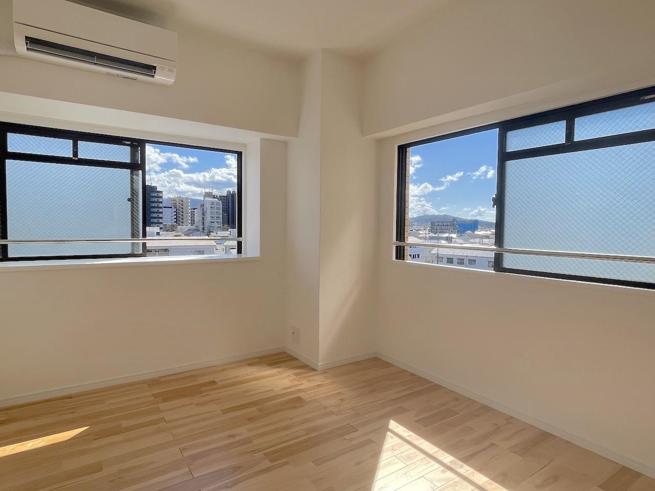 こちらは9.3㎡。個室は最小限の大きさの設計。