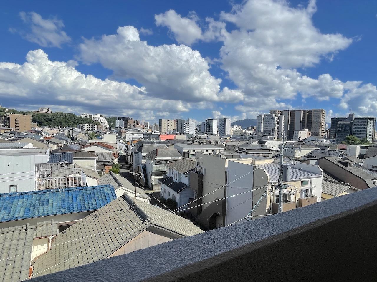 バルコニーからの景色。