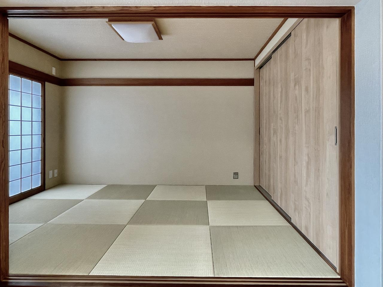 和室は琉球畳。