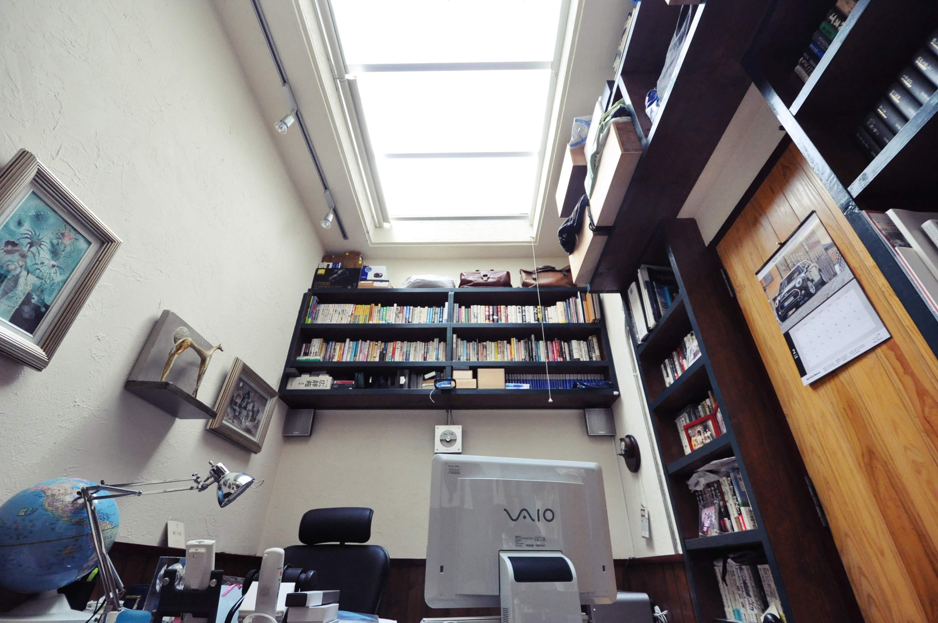 あこがれの書斎。