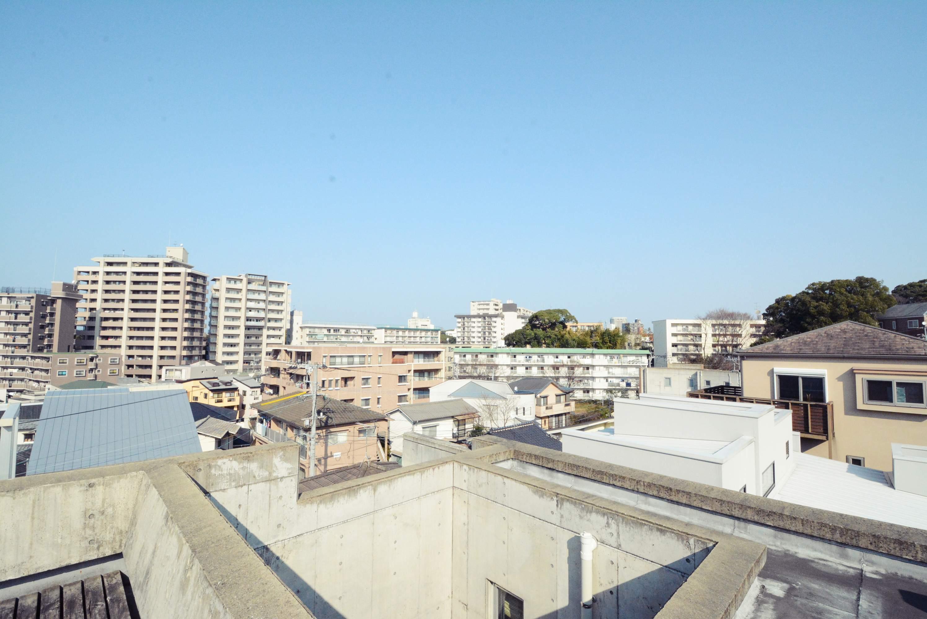 屋上からの眺望。