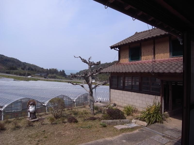 写真中央、唐津の海が顔をのぞかせています。左手にはずっとのどかな里山の風景が。