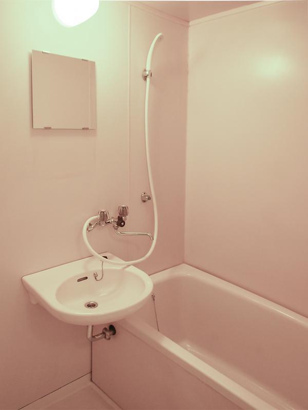 洗面と浴室は一体型です