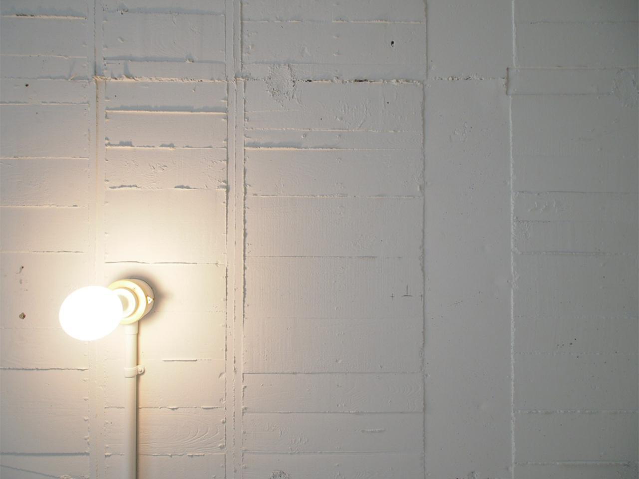 杉板本実型枠コンクリート工法の天井