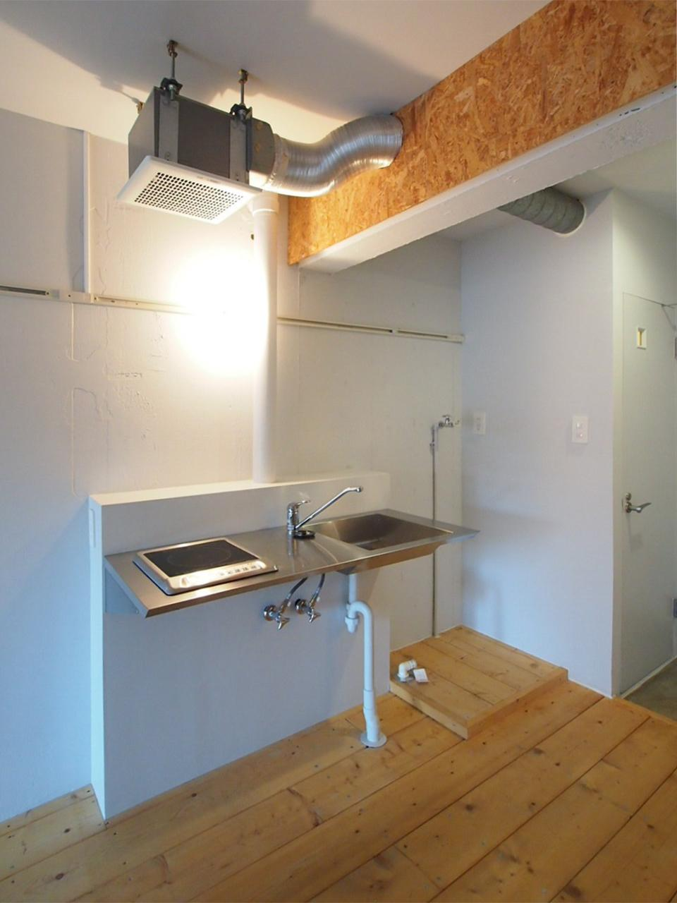 洗濯機置き場はキッチン横