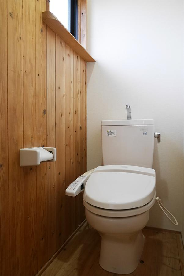 温水洗浄便座付き。設備もしっかり。