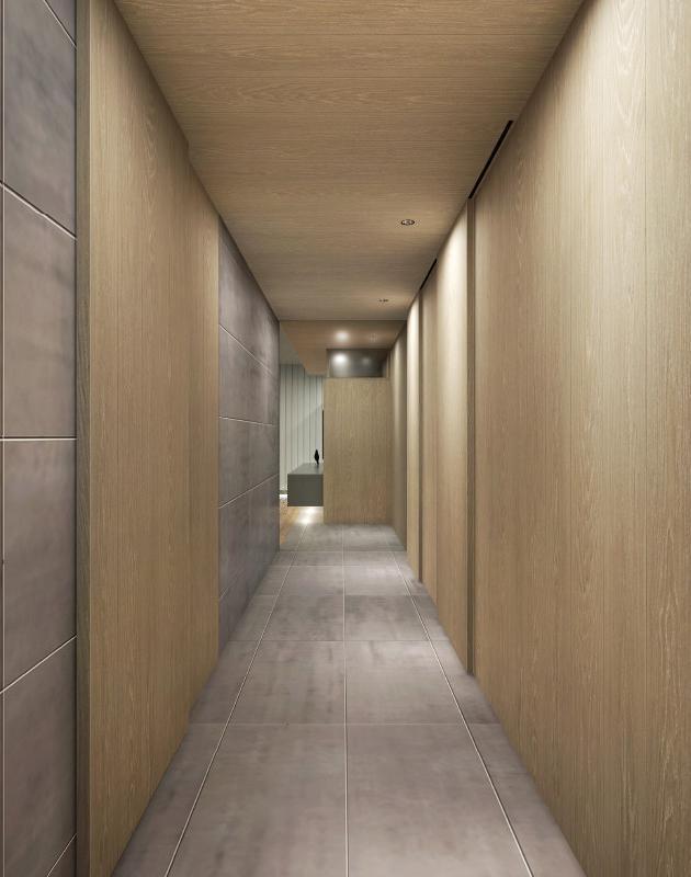 部屋だけでなく廊下にこだわってみたり。