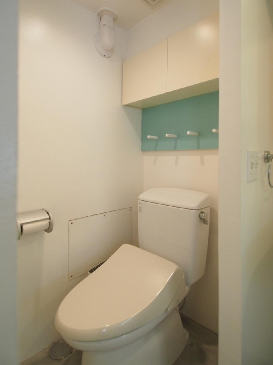 トイレの壁もキュートです