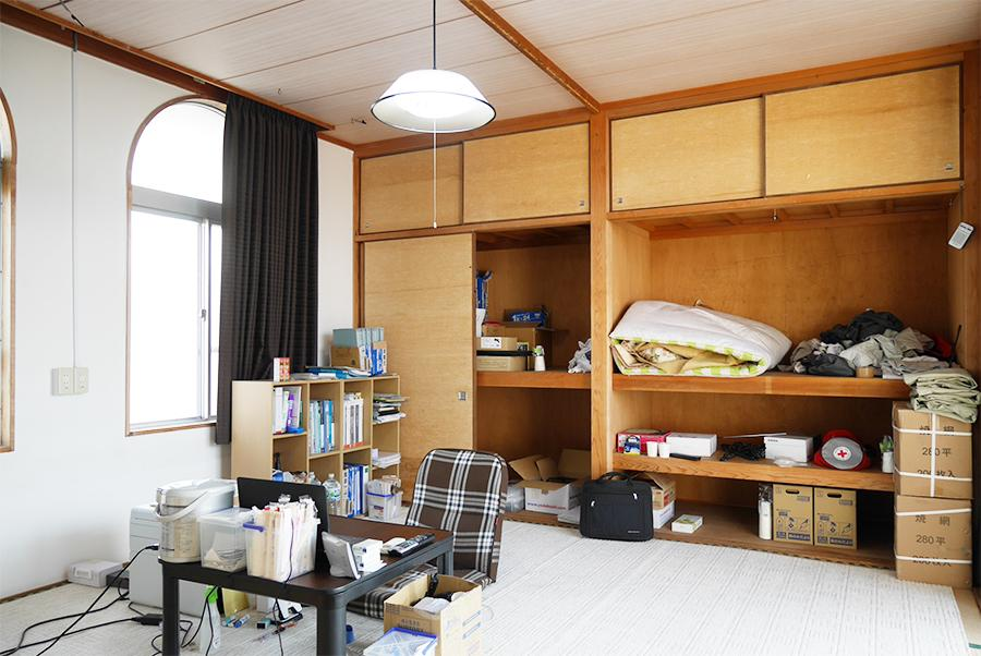 2Fの和室。現在は居住スペースとして使用されてます。