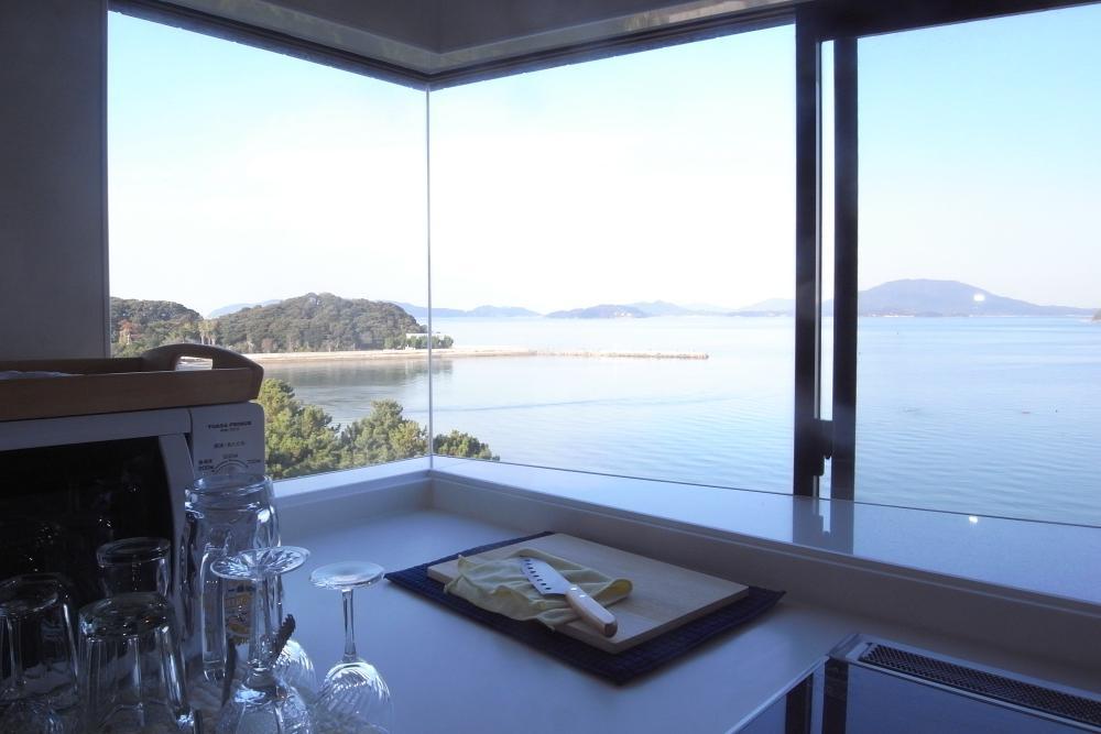 キッチンからの眺望もすばらしい