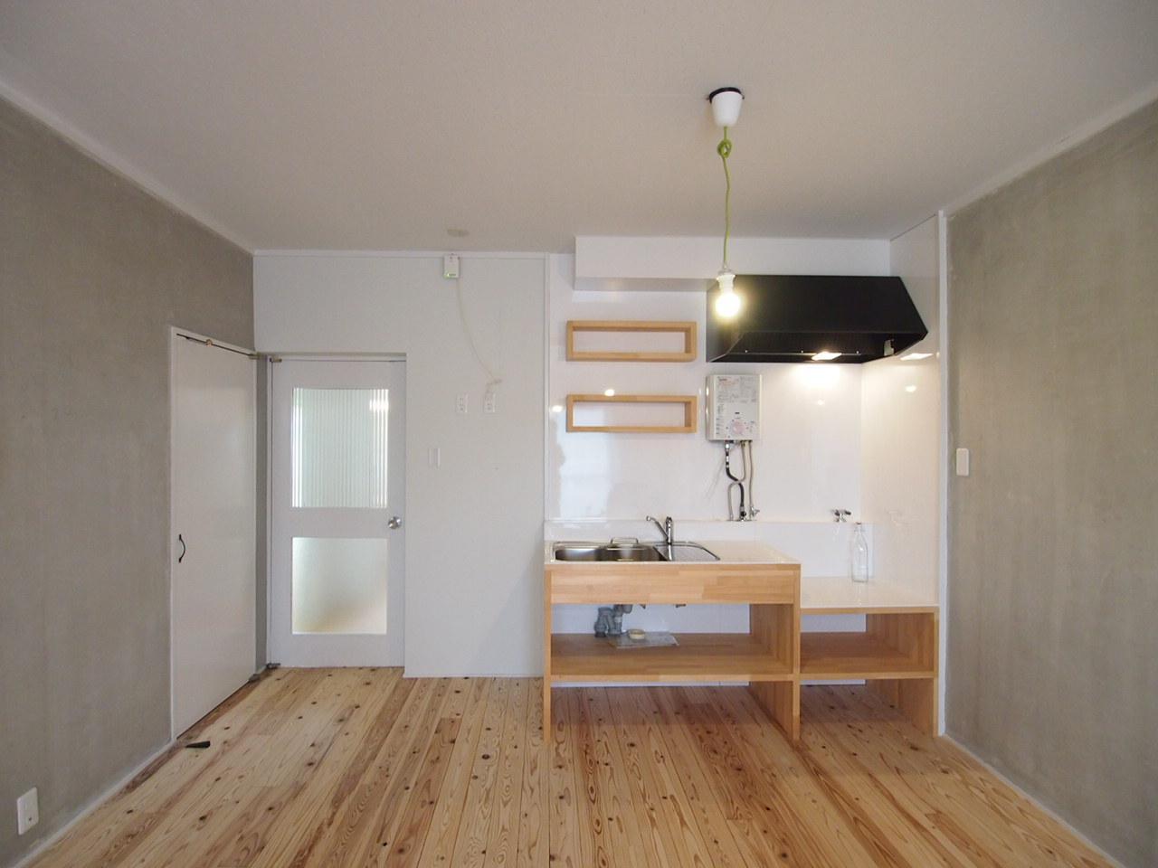 可愛らしい造作キッチン