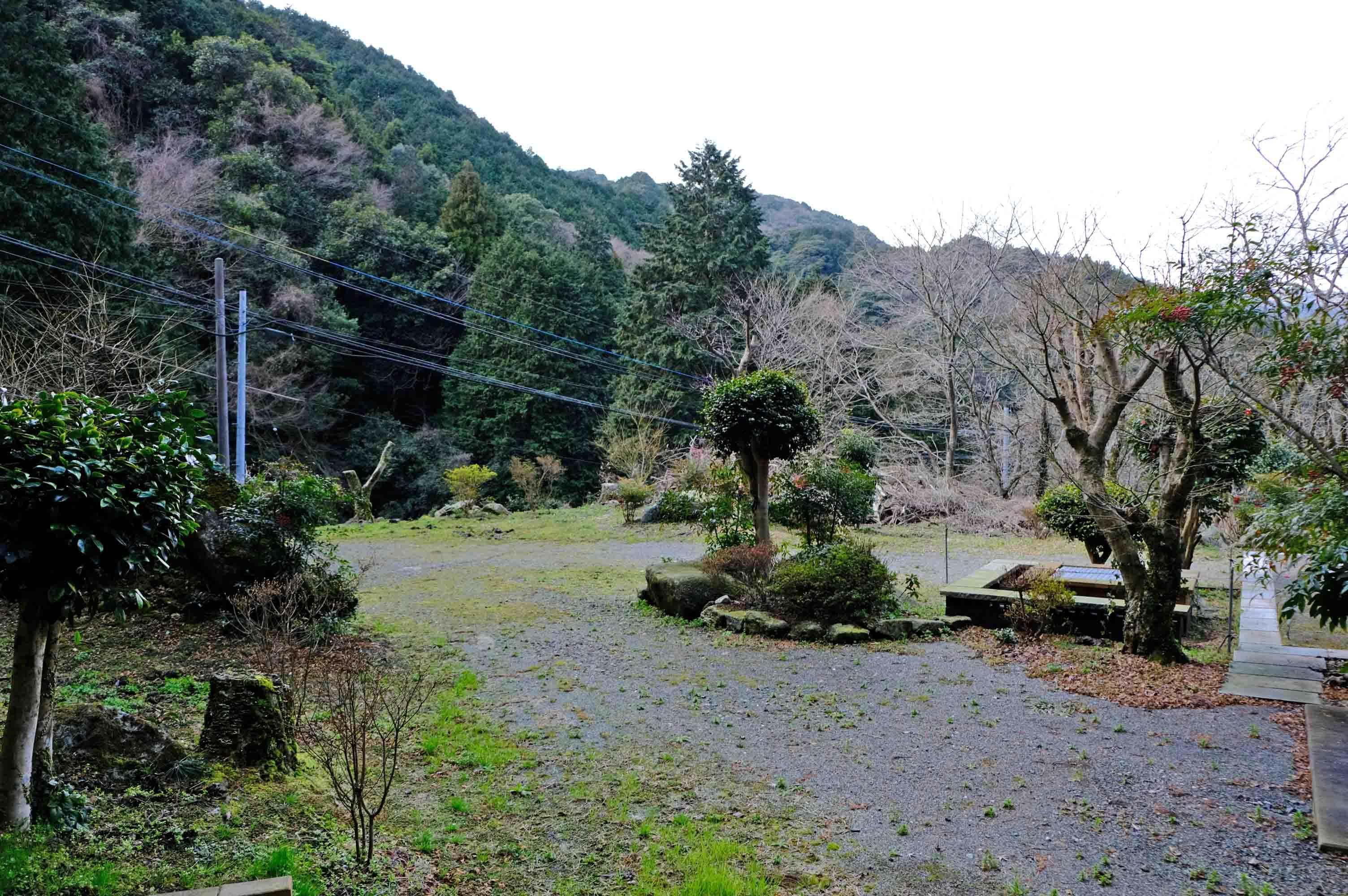 山荘は森とともに。ちなみに敷地は写りきらないぐらいもっと広いです。