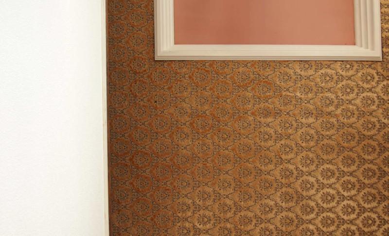 これどの箇所かと思いますか?答えは天井です。天井カーペット敷きは僕初めて見ました…。