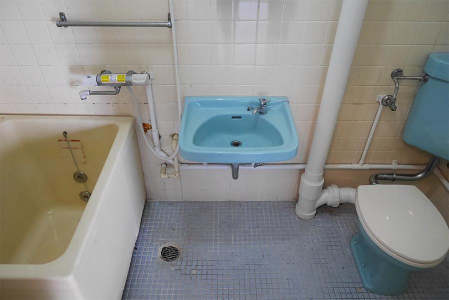 3点式の水回りスペース。