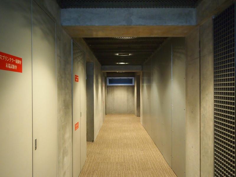 共用廊下もこの感じ。凝ってる。