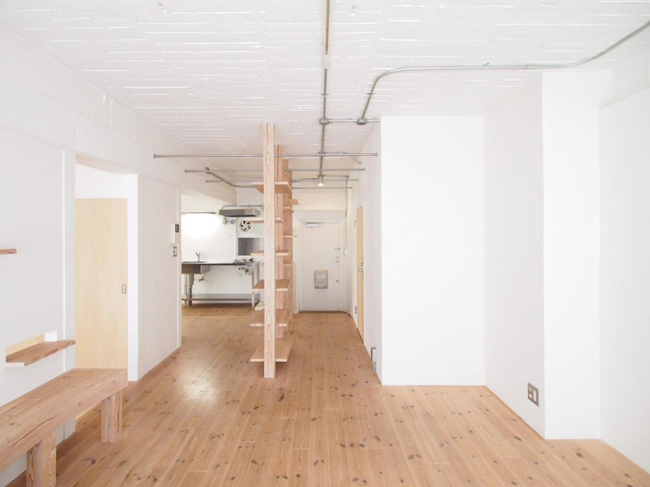 杉板本実型枠工法のコンクリートの天井