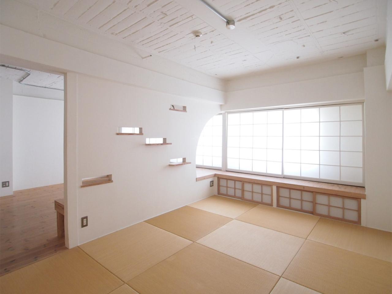 和室には表層を新たにした地袋も残っています