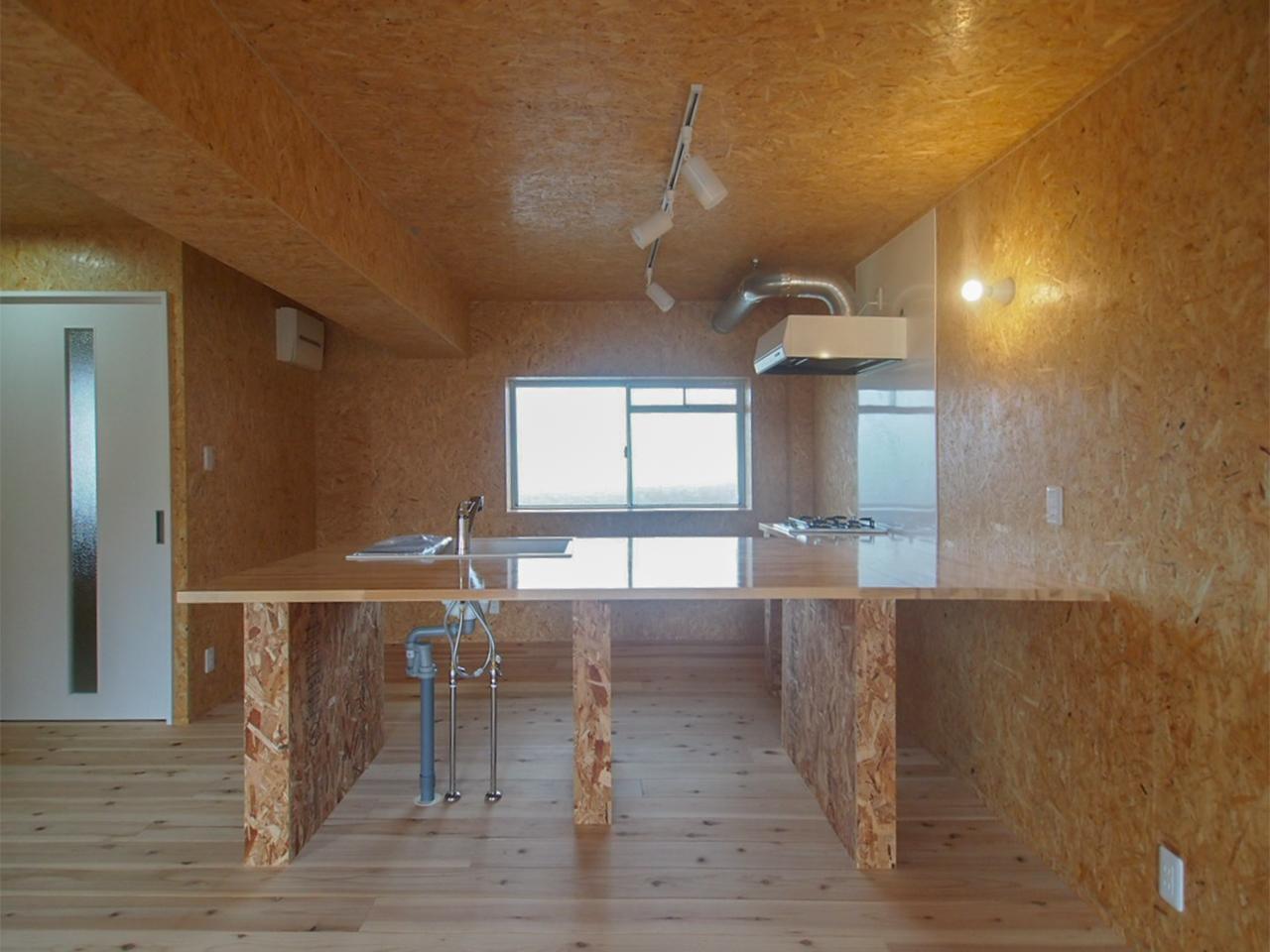 キッチンの収納はオープンです