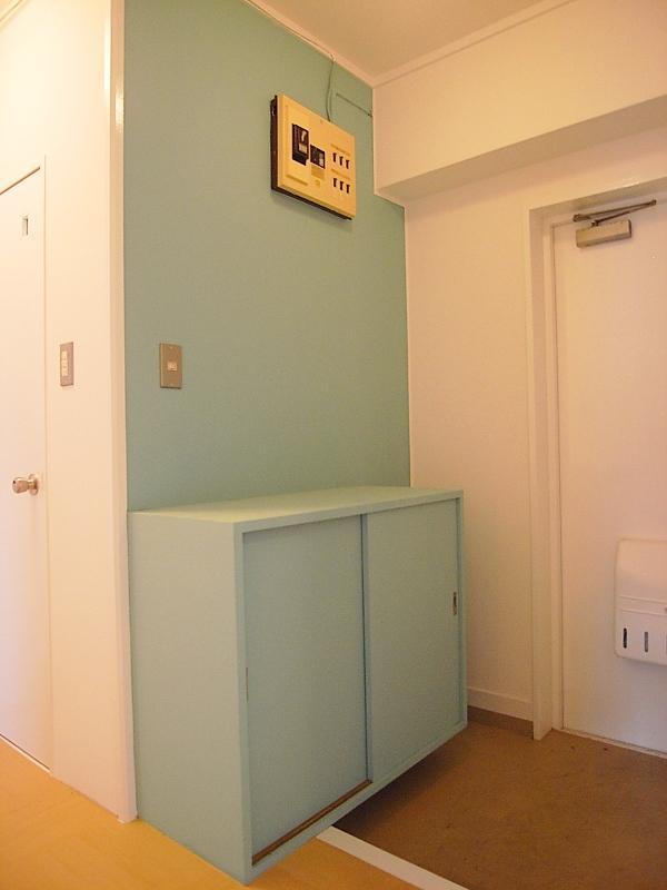 可愛らしい配色の玄関が個人的には好みだったりしてます
