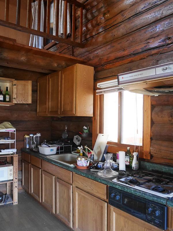 新しくはないものの、カッコいいキッチン。