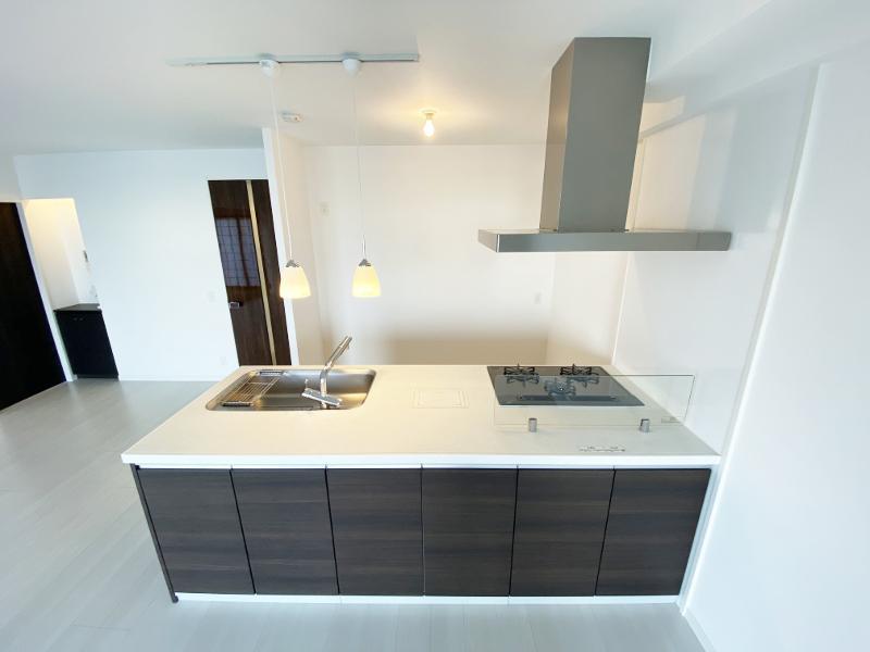 キッチンスペースはかなり余裕のあるスペースが確保されています