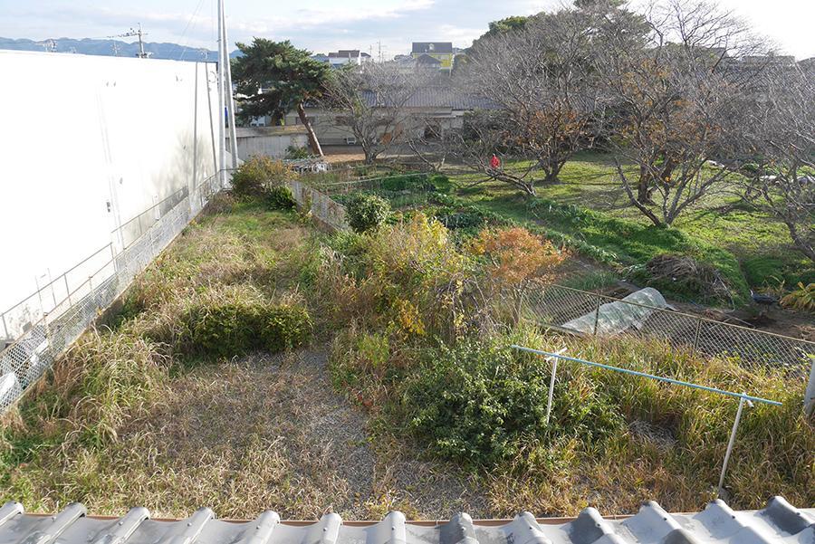 2Fからの眺望もGOOD。手前はお庭。