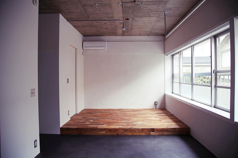 アカシア小上がりは寝室スペースに。