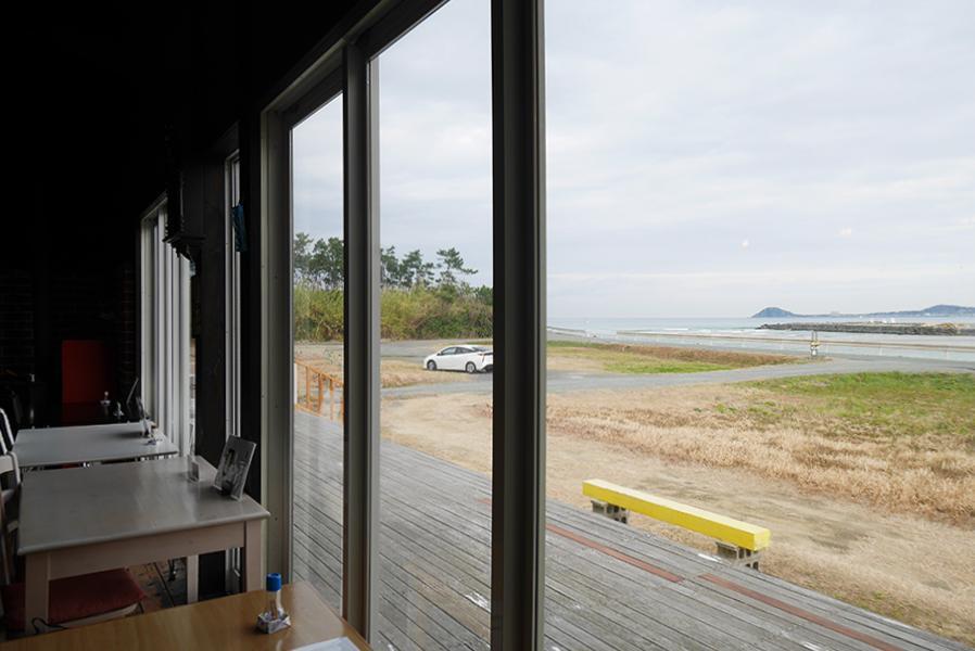 客室から眺める景色。